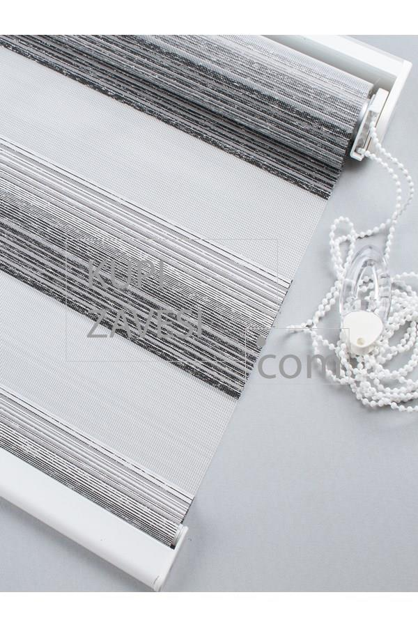 Grey White Lines And Gloss Zebra Curtain Roller Blind