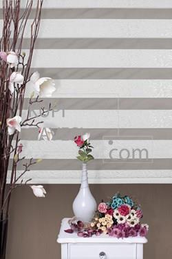 White with Gloss Zebra Curtain 460 (Roller Blind)