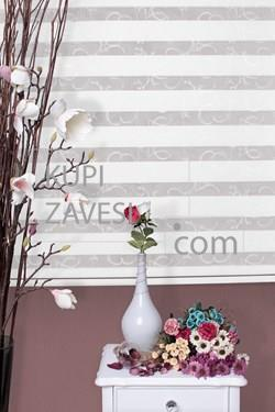 White with Lace (SHIP) Zebra Curtain (Roller Blind)ali