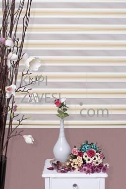 Beige with Plush Zebra Curtain (Roller Blind)