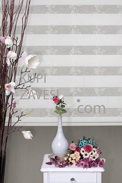 Ekru with Lace (SHIP) Zebra Curtain (Roller Blind)