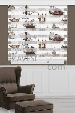 Istanbul Brown Zebra Curtain (Roller Blind)