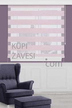 Pink with Jacquard and Shine Zebra Curtain (Roller Blind)