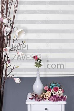 Silver flowers with Lace (SHIP) Zebra Curtain (Roller Blind)ali