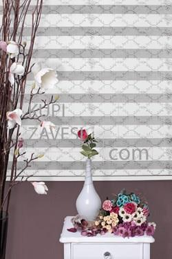 Silver rose with Lace (SHIP) Zebra Curtain (Roller Blind)ali