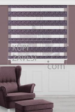 Purple with Gloss Zebra Curtain (Roller Blind)