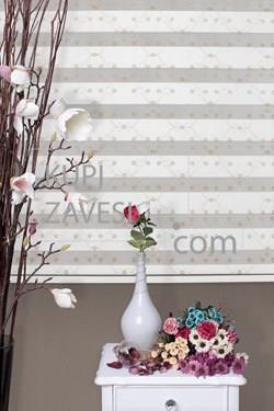 Golden tiny flowers with Lace (SHIP) Zebra Curtain (Roller Blind)