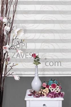Golden Oval with Lace (SHIP) Zebra Curtain (Roller Blind)