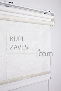 Leaf Scheme Tull (Lace) Double Roller Blind