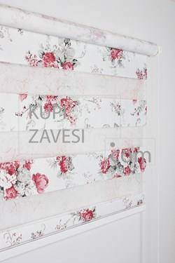 With Lace (ships) and Printed Flower Zebra Curtain (Roller Blind)