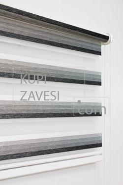 With Gray Line Zebra Curtain (Roller Blind)