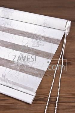 Silver leaf with Lace (SHIP) Zebra Curtain (Roller Blind)ali