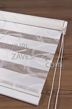 Silver silvery with Lace (SHIP) Zebra Curtain (Roller Blind)ali